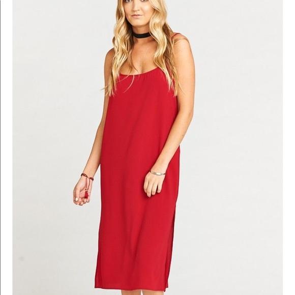 37a8a1067de5 Show Me Your MuMu Dresses | New Red Shiloh Slip Midi Dress | Poshmark